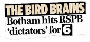 MoS readers' fury at the RSPB after Ian Botham blast ...