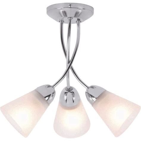 buy home ailisi 3 light ceiling fitting chrome at argos