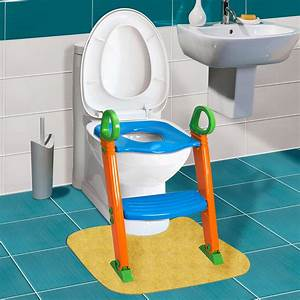 Kids potty training seat with step stool ladder for child for Bathroom step stool for toddlers