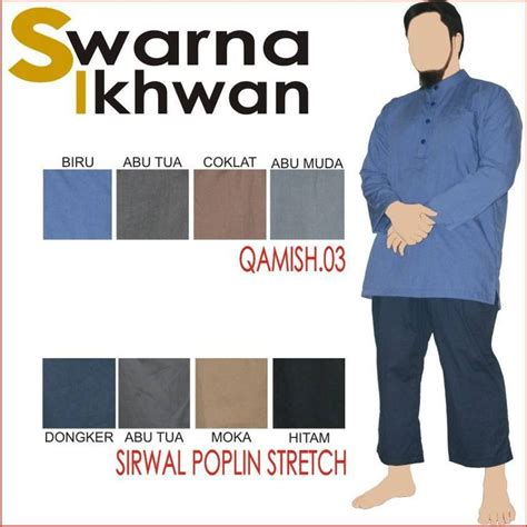 baju gamis pria gamis pakistan by swarna ikhwan qamish 03 biru abu tua abu muda coklat baju