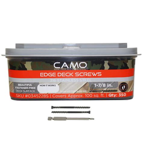 Camo Deck Screws 1 78 by Primesource 1 5 8 In X 8 In Stainless Steel Deck