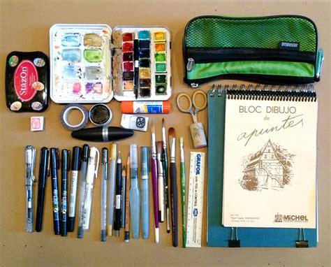 sketching supplies      urban sketchers