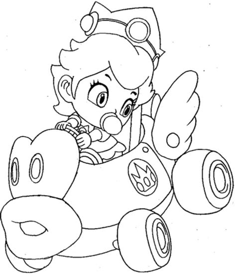 mario kart coloring pages princess coloring pages coloring home