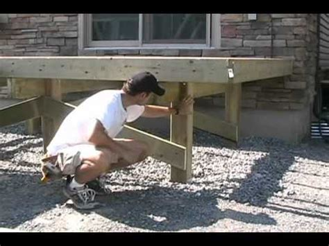 Notching 6x6 Deck Posts by Just Ask Bob Season Two Show 9 Fence Deck Post