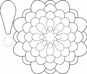 Large flower template az coloring pages for Large flower template