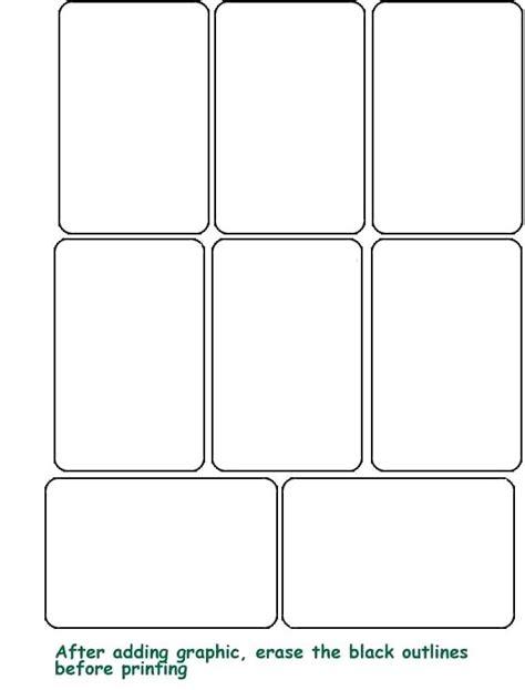 Card Blank Flash Card Template Printable Flash Card Template Free Blank Templates Cards