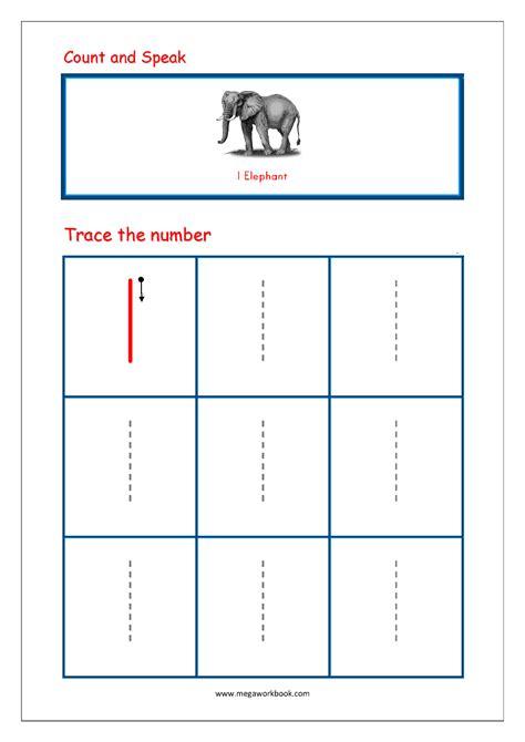tracing numbers   worksheets  kindergarten