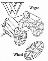Coloring Alphabet Abc Printable Wagon sketch template