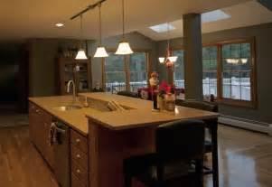 raised kitchen island kitchen island with sink and raised area kitchen