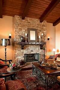 Rustic, Living, Room, With, Stone, Fireplace, Rustic, Living, Room, With, Stone, Fireplace, Design, Ideas