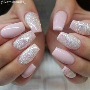 Rosa Glitzer Nägel : 47 playful glitter nails that shines from every angle n gel ~ Frokenaadalensverden.com Haus und Dekorationen