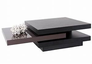 Table De Salon Alinea : table basse pivotante ocean wenge et laquee chocolat ~ Dailycaller-alerts.com Idées de Décoration