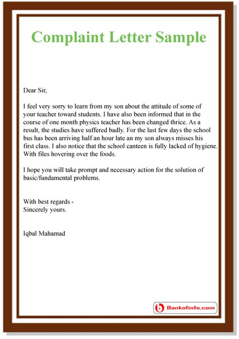 how to write a complaint letter how to write a letter of complaint about a rude employee