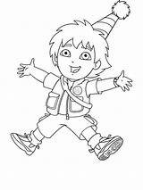 Diego Go Coloring Pages Printable Cartoon Cartoons Bright Choose Colors Favorite sketch template