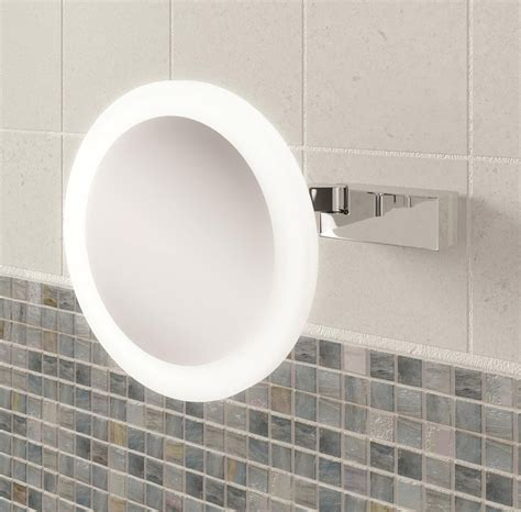 Small Illuminated Bathroom Mirrors by Hib Libra Led Illuminated Magnifying Mirror 21400