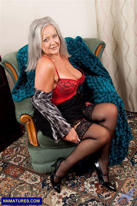 hot granny april thomas in sexy lingerie fanny s