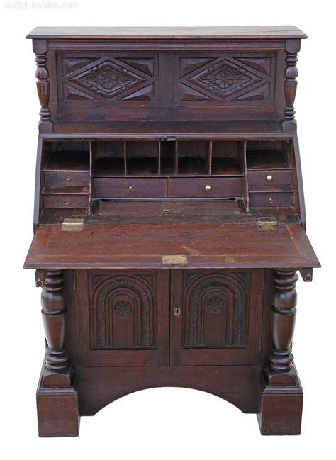 bureau table georgian carved oak bureau desk writing table antiques atlas