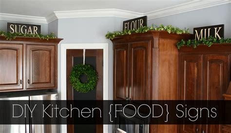 diy kitchen food signs