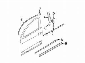 Volkswagen Passat Door Window Belt Weatherstrip  Chrome