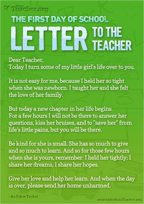day  school letter   teacher   huge