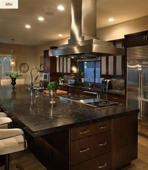 Chef's Dream: A Transitional Kitchen Before & After
