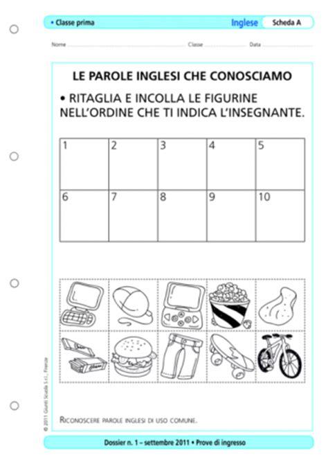 Test Ingresso Scuola Primaria - prove d ingresso inglese classe 1 la vita scolastica