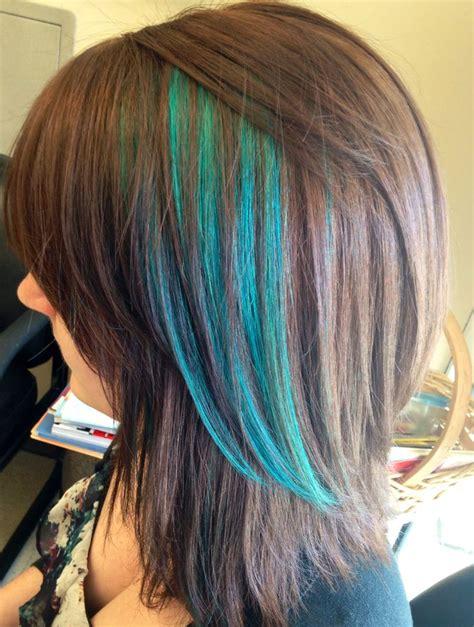 Best 25 Teal Highlights Ideas On Pinterest Teal Hair