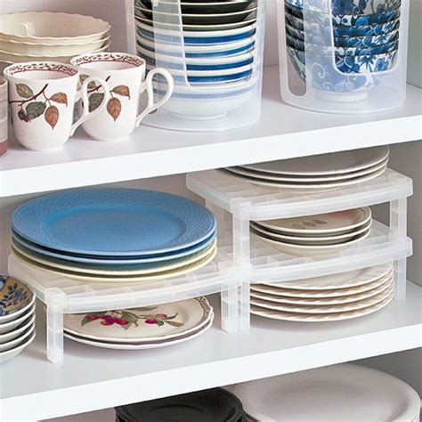 kitchen cabinet dish organizers storage rack plastic bowl plate dishes kitchen organizer 5254