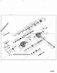Polaris Side By Side 2018 Oem Parts Diagram For Drive Train  Main Gearcase Internals
