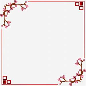 Chinese wind vector border, Frame, Chinese Style, Plum ...