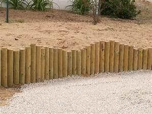 Rondin De Bois Pour Jardin : bordure rondin ~ Edinachiropracticcenter.com Idées de Décoration