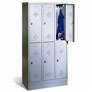 Casier De Vestiaire : armoire casiers sur 2 niveaux ~ Edinachiropracticcenter.com Idées de Décoration