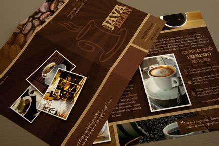 cozy coffee shop brochure template inkd