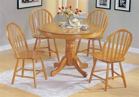 farmhouse 5 pc country solid wood dining pedestal
