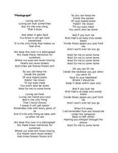 Searched Term: photograph lyrics