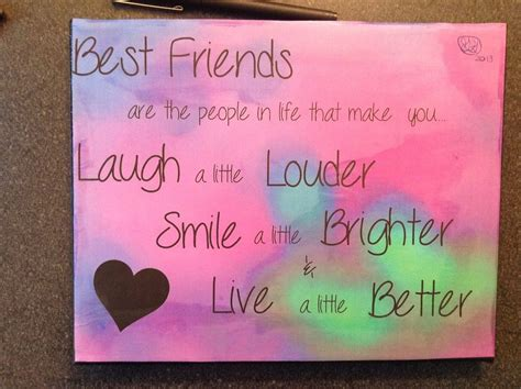for best friend quote best friend paintings search pictures Canvas