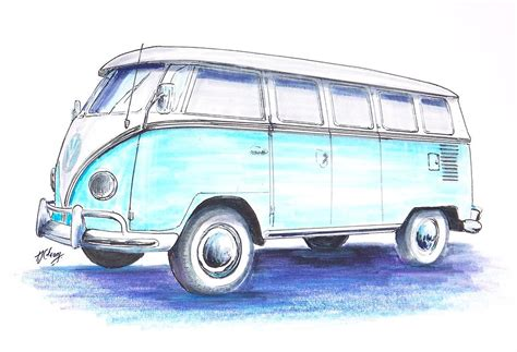 Vw Bus By Terence John Cleary