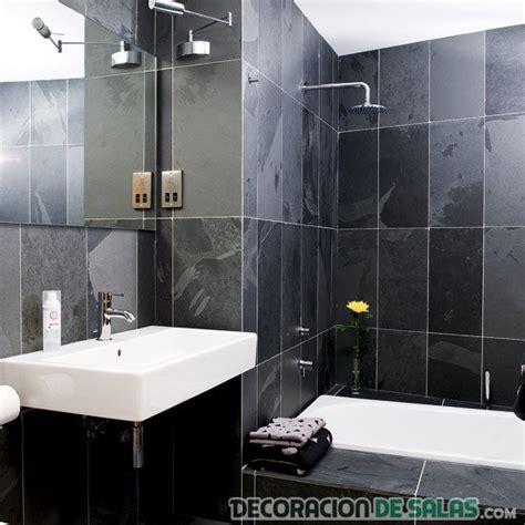 ideas de banos en color negro decoracion de salas