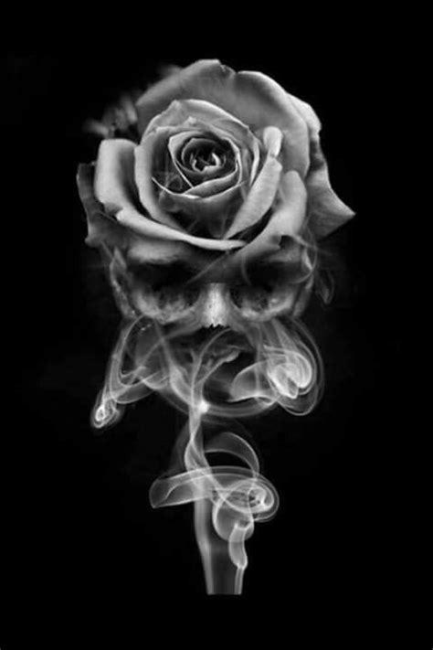 smoke skull rose skulls skull rose tattoos skull tattoos candle tattoo