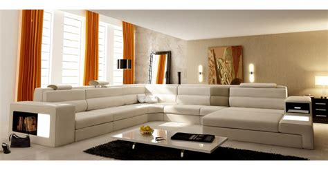 nettoyage canapé cuir blanc déco salon cuir beige