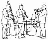 Jazz Band Coloring Pages Template Club Worksheets Scott Musicians Wait sketch template