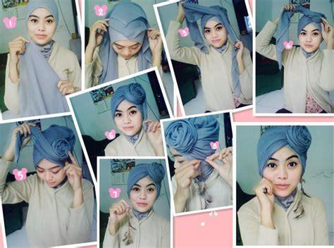 terbaik  tutorial hijab turban segi empat  wajah bulat  red gummi bear