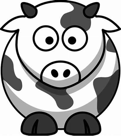 Cow Cartoon Outline Clker Clip Vector Clipart