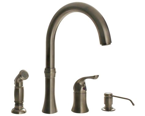 710bn Brushed Nickel 4 Hole Kitchen Faucet  Touch On