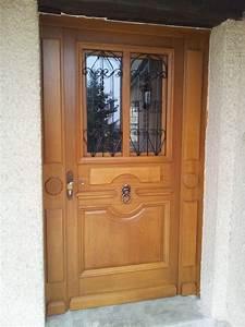 Porte D Entrée En Bois Moderne : les portes d 39 entr es en bois reims metz nancy longwy thionville verdun menuiserie collin ~ Nature-et-papiers.com Idées de Décoration