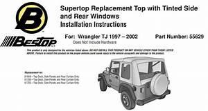 How To Install A Bestop Supertop Replacement Skin On Your