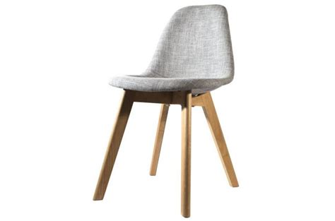 chaise grise tissu chaise scandinave en tissu grise fjord chaise design pas