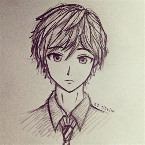 anime art draw easy anime boy drawing at getdrawings com free for