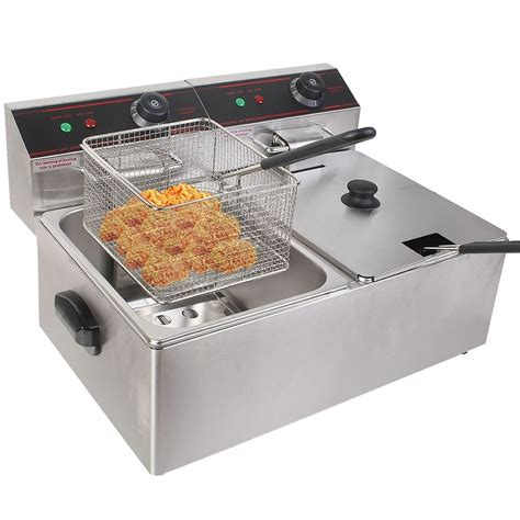 Countertop Fryers by New 5000w Electric Countertop Fryer Dual Tank