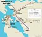 BART (Bay Area Rapid Transit), San Francisco — Map, Lines ...